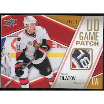 2011/12 Upper Deck Game Jerseys Patches #GJ2NF Nikita Filatov /15