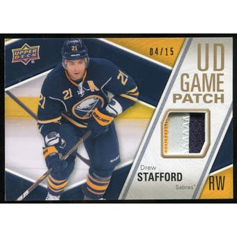 2011/12 Upper Deck Game Jerseys Patches #GJ2ST Drew Stafford /15
