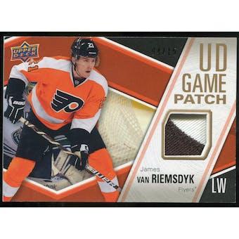2011/12 Upper Deck Game Jerseys Patches #GJ2VA James van Riemsdyk /15