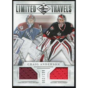 2012/13 Panini Limited Travels Dual Jerseys #TDCA Craig Anderson /199