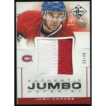 2012/13 Panini Limited Jumbo Materials Prime #JJJG Josh Gorges /49
