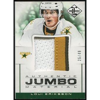 2012/13 Panini Limited Jumbo Materials Prime #JJLE Loui Eriksson /49