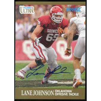 2013 Upper Deck Fleer Retro Ultra Autographs #72 Lane Johnson E Autograph