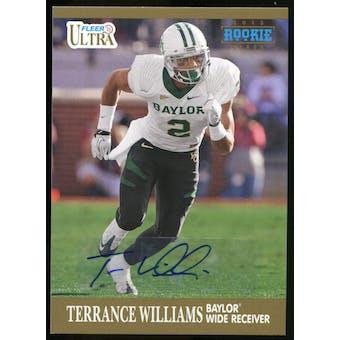 2013 Upper Deck Fleer Retro Ultra Autographs #75 Terrance Williams D Autograph