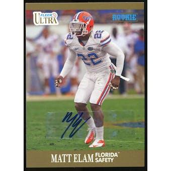 2013 Upper Deck Fleer Retro Ultra Autographs #82 Matt Elam E Autograph