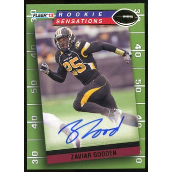 2013 Upper Deck Fleer Retro Fleer Rookie Sensations Autographs #RS15 Zaviar Gooden D Autograph