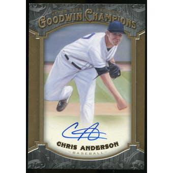2014 Upper Deck Goodwin Champions #183 Chris Anderson Autograph