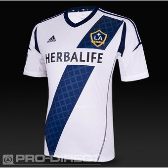 Los Angeles Galaxy Adidas ClimaCool White Replica Jersey (Adult XL)