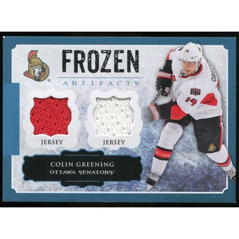 2013-14 Upper Deck Artifacts Frozen Artifacts Jerseys Blue #FACG Colin Greening A