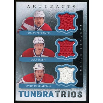 2013-14 Upper Deck Artifacts Tundra Trios Jerseys Blue #T3PED Tomas Plekanec/Lars Eller/David Desharnais C