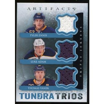2013-14 Upper Deck Artifacts Tundra Trios Jerseys Blue #T3VEA Tyler Ennis/Luke Adam/Thomas Vanek C