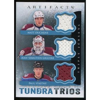 2013-14 Upper Deck Artifacts Tundra Trios Jerseys Blue #T3GSD Matt Duchene/Jean-Sebastien Giguere/Paul Stastny