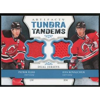 2013-14 Upper Deck Artifacts Tundra Tandems Jerseys Blue #TTEK Patrik Elias/Ilya Kovalchuk A