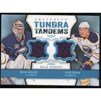 2013-14 Upper Deck Artifacts Tundra Tandems Jerseys Blue #TTMA Ryan Miller/Luke Adam B