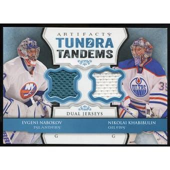 2013-14 Upper Deck Artifacts Tundra Tandems Jerseys Blue #TTNK Evgeni Nabokov/Nikolai Khabibulin B