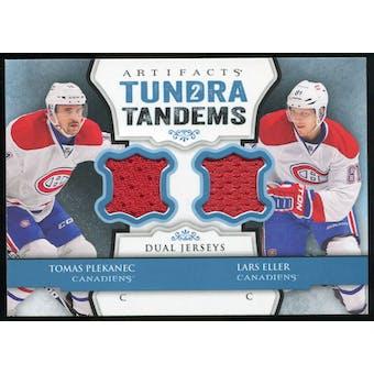 2013-14 Upper Deck Artifacts Tundra Tandems Jerseys Blue #TTPE Tomas Plekanec/Lars Eller B