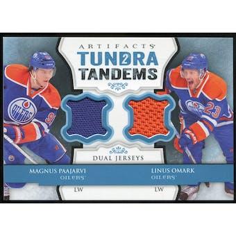 2013-14 Upper Deck Artifacts Tundra Tandems Jerseys Blue #TTPO Magnus Paajarvi/Linus Omark B