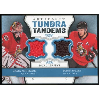 2013-14 Upper Deck Artifacts Tundra Tandems Jerseys Blue #TTSA Craig Anderson/Jason Spezza B
