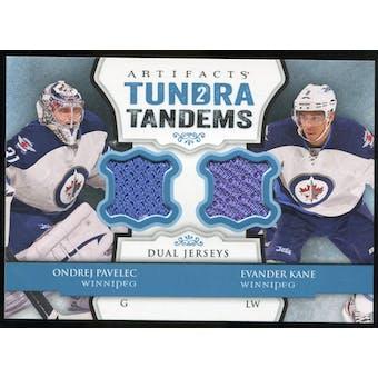 2013-14 Upper Deck Artifacts Tundra Tandems Jerseys Blue #TTPK Ondrej Pavelec/Evander Kane C