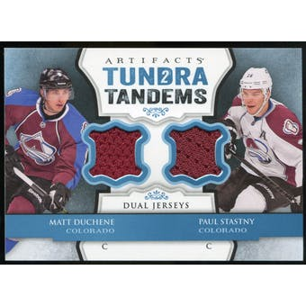 2013-14 Upper Deck Artifacts Tundra Tandems Jerseys Blue #TTSD Matt Duchene/Paul Stastny C