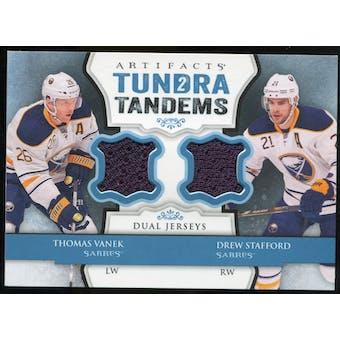 2013-14 Upper Deck Artifacts Tundra Tandems Jerseys Blue #TTVS Thomas Vanek/Drew Stafford C