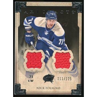 2013-14 Upper Deck Artifacts Jerseys #72 Nick Foligno /125
