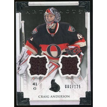 2013-14 Upper Deck Artifacts Jerseys #108 Craig Anderson G /125