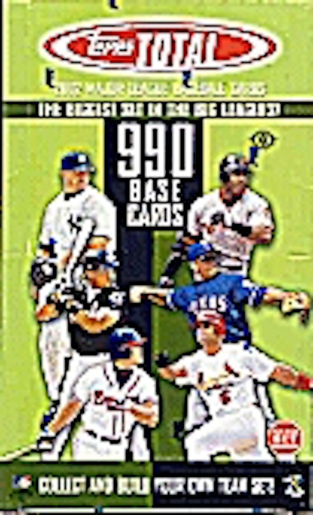 2002 Topps Total Baseball Hobby Box Da Card World