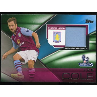 2014/15 Topps English Premier League Gold Football Fibers Relics Green #FFRJCE Joe Cole