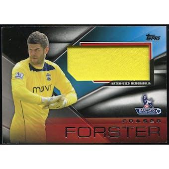 2014/15 Topps English Premier League Gold Football Fibers Relics Jumbo Black #FFRFF Fraser Forster /25