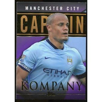 2014/15 Topps English Premier League Gold Captains Purple #CSVK Vincent Kompany /50