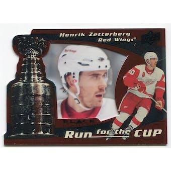 2008/09 Upper Deck Black Diamond Run for the Cup #CUP17 Henrik Zetterberg /100