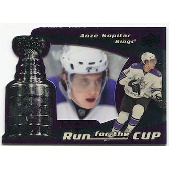 2008/09 Upper Deck Black Diamond Run for the Cup #CUP20 Anze Kopitar /100