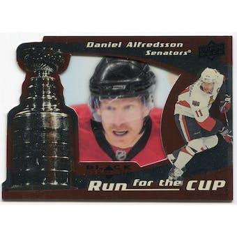 2008/09 Upper Deck Black Diamond Run for the Cup #CUP26 Daniel Alfredsson /100