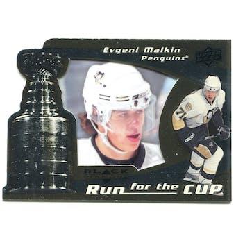 2008/09 Upper Deck Black Diamond Run for the Cup #CUP33 Evgeni Malkin /100