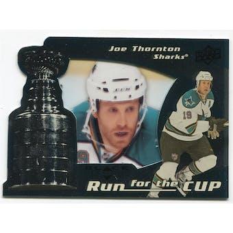 2008/09 Upper Deck Black Diamond Run for the Cup #CUP36 Joe Thornton /100