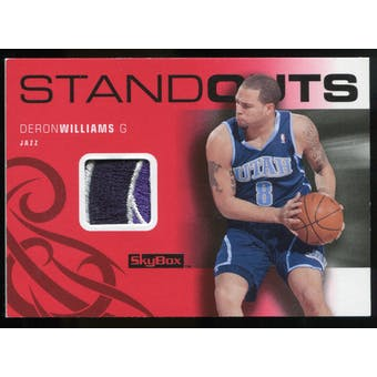 2008/09 Upper Deck SkyBox Standouts Patches #SODW Deron Williams /25