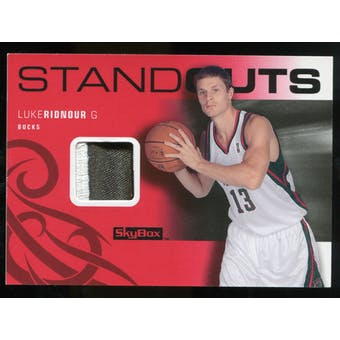2008/09 Upper Deck SkyBox Standouts Patches #SOLR Luke Ridnour /25
