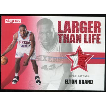 2008/09 Upper Deck SkyBox Larger Than Life Patches #LLEB Elton Brand /25