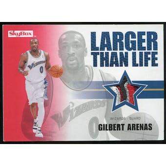 2008/09 Upper Deck SkyBox Larger Than Life Patches #LLGA Gilbert Arenas /25