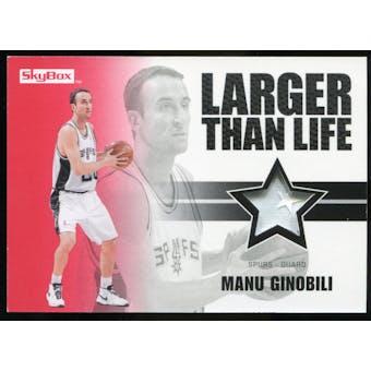 2008/09 Upper Deck SkyBox Larger Than Life Patches #LLMG Manu Ginobili /25