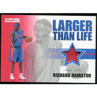 2008/09 Upper Deck SkyBox Larger Than Life Patches #LLRH Richard Hamilton /25
