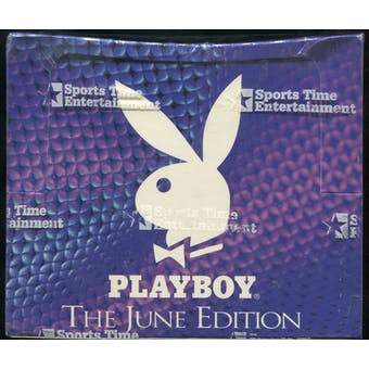 Playboy Centerfold Collector Trading Cards Box (1996 June Edition)