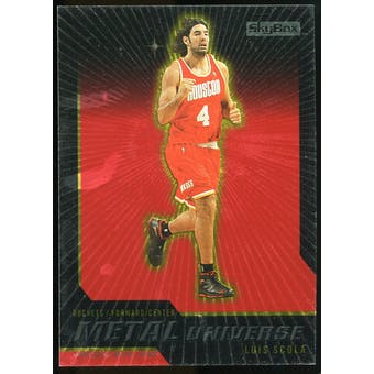2008/09 Upper Deck SkyBox Metal Universe Precious Metal Gems Red #32 Luis Scola /50