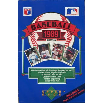 1989 Upper Deck High # Baseball Wax Box