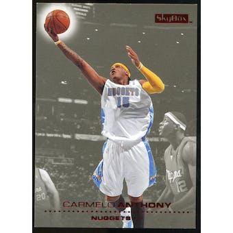 2008/09 Upper Deck SkyBox Ruby #34 Carmelo Anthony /50