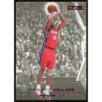 2008/09 Upper Deck SkyBox Ruby #44 Rasheed Wallace /50