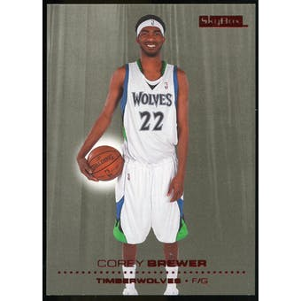 2008/09 Upper Deck SkyBox Ruby #91 Corey Brewer /50