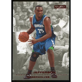 2008/09 Upper Deck SkyBox Ruby #93 Al Jefferson /50