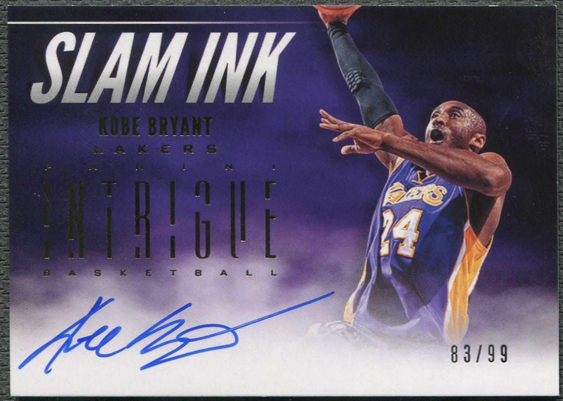2012 13 Panini Intrigue 3 Kobe Bryant Slam Ink Auto 83 99